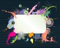 Espaço colorido do respingo e do texto Foto de Stock