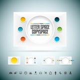 Espaço Copyspace da letra Imagens de Stock