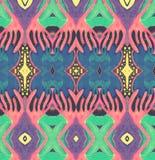 Espaço cor-de-rosa amarelo azul do ornamento Imagens de Stock Royalty Free