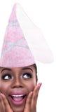Espaço da cópia da princesa Costume Girl With de Dia das Bruxas imagem de stock