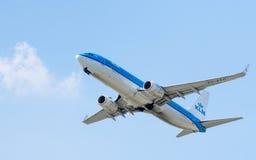 Espaço da cópia de Boeing 737 Fotos de Stock Royalty Free