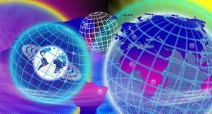 Espaço da esfera do mundo Imagens de Stock