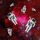 Espaço da galáxia dos astronautas foto de stock royalty free