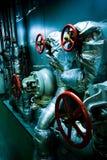 Espaço da sala de motor da embarcação (navio) Fotos de Stock Royalty Free