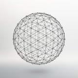 Espaço das linhas e dos pontos Bola das linhas Imagens de Stock Royalty Free