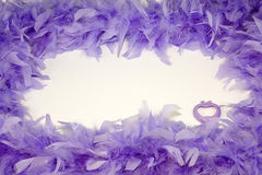 Espaço das penas com um coração interna Imagem de Stock Royalty Free