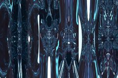 Espaço de brilho azul fantástico Fundo azul abstrato Fotografia de Stock