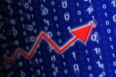 Espaço de dados azul Imagens de Stock