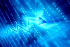 Espaço de dados azul Fotografia de Stock Royalty Free
