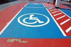 Espaço de estacionamento incapacitado Fotografia de Stock