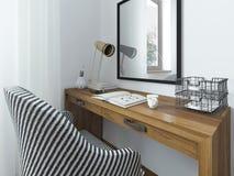 Espaço de funcionamento com uma mesa Fotos de Stock Royalty Free