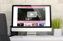 espaço de trabalho com fluência video Fotografia de Stock Royalty Free