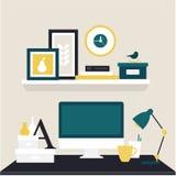 Espaço de trabalho do desenhador Fotografia de Stock