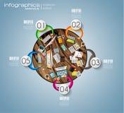 Espaço de trabalho ideal para trabalhos de equipa e brainsotrming Imagens de Stock Royalty Free