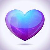 Espaço de vetor no coração Fotos de Stock
