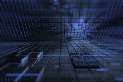 espaço do azul 3D Imagem de Stock