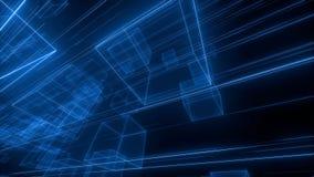 espaço do cubo 3D ilustração do vetor