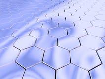 Espaço do hexágono do cromo Fotos de Stock