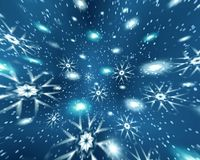 Espaço do Natal da abstracção Imagens de Stock