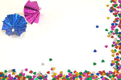 Espaço dos guarda-chuvas para cocktail e corações Imagem de Stock