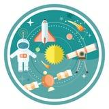 Espaço e astronomia ilustração royalty free