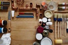 Espaço e materiais vazios para minhas ideias Imagem de Stock Royalty Free