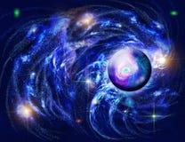 Espaço e planeta ilustração royalty free