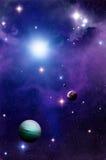 Espaço e planetas ilustração stock