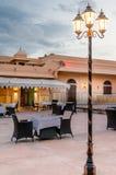 Espaço elegante comer dentro do forte de Rajasthani Imagem de Stock Royalty Free