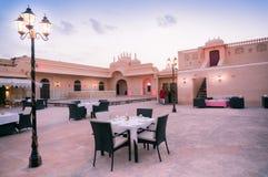 Espaço elegante comer dentro do forte de Rajasthani Fotografia de Stock