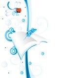 Espaço em branco da libélula Foto de Stock