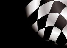 Espaço em branco de canto Checkered ilustração do vetor
