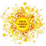 Espaço em branco de Sun Imagem de Stock Royalty Free