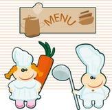 Espaço em branco do menu Fotografia de Stock Royalty Free