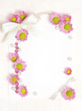 Espaço em branco do papel com projeto das flores Imagem de Stock