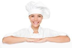 Espaço em branco do sinal do cozinheiro chefe Foto de Stock