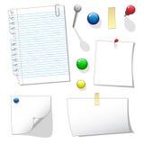 Espaço em branco dos papéis de nota Fotos de Stock