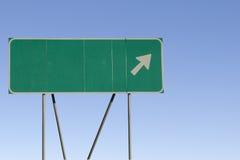 Espaço em branco - estrada de saída seguinte Fotos de Stock Royalty Free