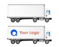 Espaço em branco isolado perfil do caminhão do vetor ilustração do vetor