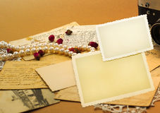 Espaço em branco retro do álbum Fotos de Stock