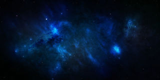 Espaço estrelado azul do céu Imagens de Stock Royalty Free