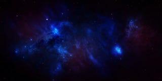 Espaço estrelado azul do céu Imagem de Stock Royalty Free
