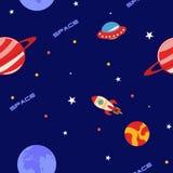 Espaço, estrelas e Rockets Fotos de Stock