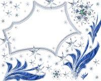 Espaço festivo das estrelas com flocos de neve Imagens de Stock Royalty Free