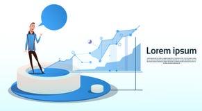 Espaço financeiro da cópia da carta de negócio do gráfico de Visualization Analysis Finance do homem de negócios Imagens de Stock