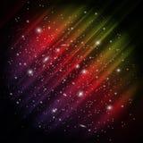 Espaço, fundo da Aurora Fotografia de Stock Royalty Free