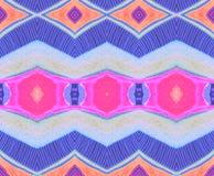 Espaço lilás alaranjado cor-de-rosa azul indiano do teste padrão Fotografia de Stock