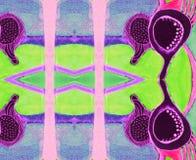 Espaço lilás cor-de-rosa azul indiano do ornamento Imagens de Stock Royalty Free
