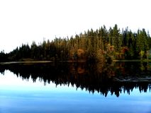 Espaço livre do lago como o vidro fotos de stock