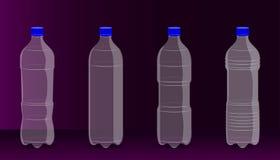 Espaço livre na garrafa plástica para seu presente da promoção da bebida Fundo bonito ilustra??o eps10 ilustração royalty free